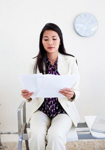 Woman Waiting For An Interview