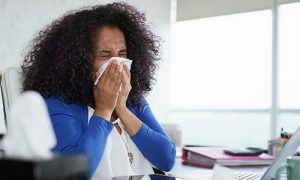 Woman on sick leave